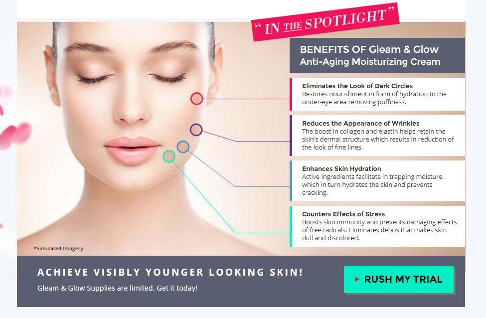 gleam and glow benefits