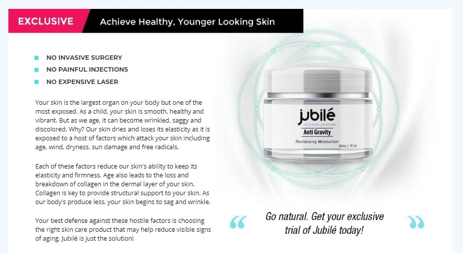 jubile skin cream